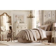 Girls Bedroom Designs and Decoration Ideas.  Elegant Bedroom from RH Baby & Child