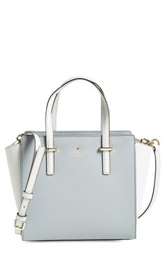 Can't stop staring at this kate spade new york leather satchel. The pastel blue hues are everything!
