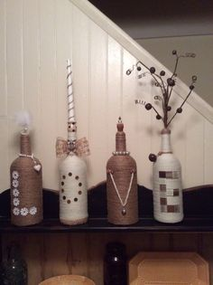 Made these out of recycled bottles!