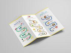제주도 맛집 여행 리플렛 - 안녕, 제주 - 그래픽 디자인 · 브랜딩/편집, 그래픽 디자인, 브랜딩/편집, 그래픽 디자인, 브랜딩/편집 Brochure Design, Infographic, Road Trip, Layout, Catalog, Cards, Tri Fold Brochure Template, Brochures, Flyer Design