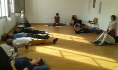 Cuarta y última sesión del programa ''La capacidad del #Mindfulness en el #Coaching'', en Santo Espíritu del monte, jornada en silencio, practicando las sensaciones corporales.