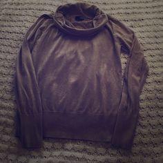 a.n.a. Lightweight, tan, cowl neck sweater 60% cotton 40% modal: light weight sweater. Long sleeved cowl neck a.n.a Sweaters Cowl & Turtlenecks