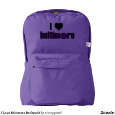 I Love Baltimore Backpack