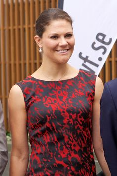 Crown Princess Victoria of Sweden attends the Baltic Sea Seminar at the Finnish Embassy on August 27, 2014 in Stockholm, Sweden.