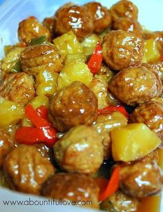 A Bountiful Love: Crockpot Hawaiian Meatballs