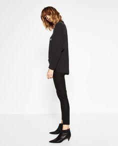 Faux Leather Leggings | Zara