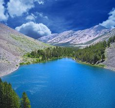 Blue Lake of the Virginia Lakes in the Eastern Sierra Nevada, Mono County, California