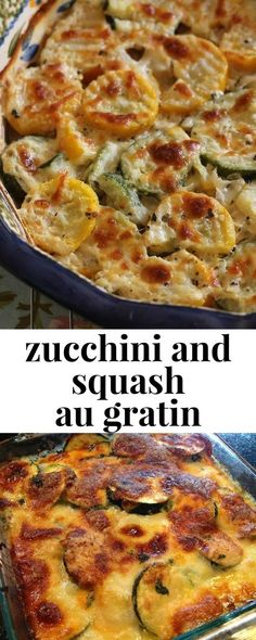 and Squash Au Gratin Easy summer side dish, this zucchini and squash au gratin is a delicious casserole!Easy summer side dish, this zucchini and squash au gratin is a delicious casserole! Summer Side Dishes, Veggie Side Dishes, Vegetable Dishes, Food Dishes, Easy Side Dishes, Lasagna Side Dishes, Dinner Side Dishes, Healthy Side Dishes, Veggie Recipes