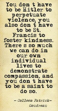 Clarifying compassion.