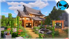 Welcome to another Minecraft Build Tutorial. Today I will show you in minecraft how to build a large Japanese house. This Japanese house tutorial is a simple. Chalet Minecraft, Villa Minecraft, Minecraft Cottage, Easy Minecraft Houses, Minecraft House Tutorials, Minecraft Houses Blueprints, Minecraft Plans, Minecraft House Designs, Minecraft Decorations