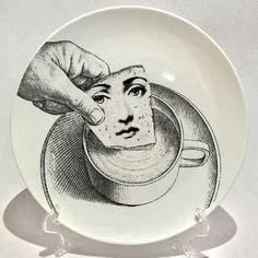 Barato Piero Fornasetti imprime em placas do vintage Arte Beleza Rosto CRÂNIO Personalizado los platos para quarto…