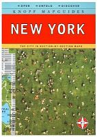 """The Compleat Traveller: In Review: Knopf MapGuide: New York. When I travelled to New York in the spring of 2008, for the start of my two month stay, I had several 'indispensable' guide books in my suitcase, but it didn't take long before one small book proved to be the most indispensable of all. The New York """"MapGuide"""" is compact, filled with information, illustrated with large, fold-out, easy to read maps, and which just as importantly, are very lightweight."""