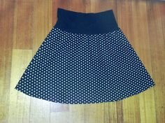 Women's plus size black and white polka dot skirt