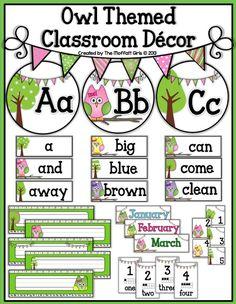 Owl Themed Classroom Decor!