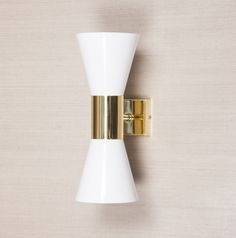 Birgit Israel Single Cone Wall Light  31cm high x 12cm wide x 7cm diameter.