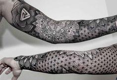 Berlin-based tattoo artist Chaim Machlev specialises in mesmermising geometric designs.