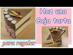 Cómo hacer una caja tarta para regalo. Con cartón y foamy - goma eva  - YouTube