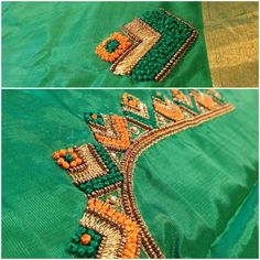 Diba boutique / hand embroidery blouses Whatsapp no. Cutwork Blouse Designs, Kids Blouse Designs, Wedding Saree Blouse Designs, Hand Work Blouse Design, Simple Blouse Designs, Embroidery Neck Designs, Hand Work Embroidery, Dress Neck Designs, Simple Embroidery