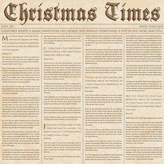 Miniature Printables - Christmas Newspaper