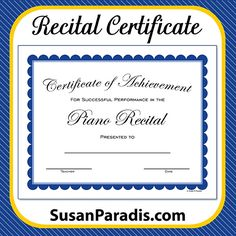 Image result for musical certificate templates certificates piano recital certificate traditional yadclub Choice Image