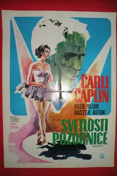 LIMELIGHT 1952 CHARLES CHAPLIN CLAIRE BLOOM MEGA RARE EXYU MOVIE POSTER