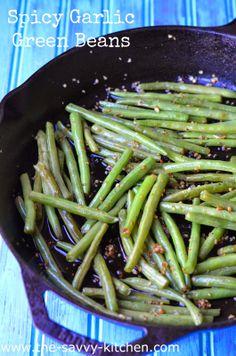 The Savvy Kitchen: Spicy Garlic Green Beans