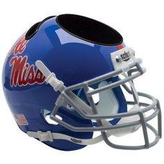 Mississippi Rebels Schutt Mini Helmet Desk Caddy - Alternate 1