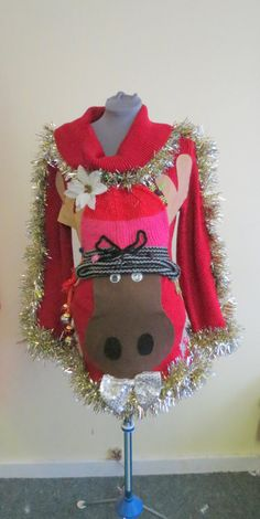 No Sew DIY Ugly Christmas Sweater | Ugliest christmas sweaters ...