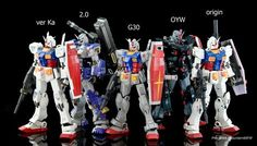 GUNDAM GUY: 1/100 RX-78-2 Gundam Comparison Images by Gundam@EFSF