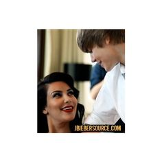 Justin bieber and kim kardashian ❤ liked on Polyvore featuring justin bieber