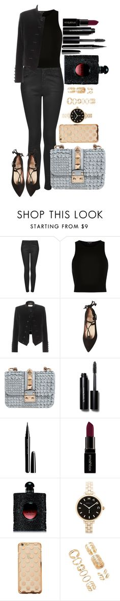 """Untitled #1346"" by fabianarveloc on Polyvore featuring Topshop, River Island, Yves Saint Laurent, French Sole FS/NY, Valentino, Bobbi Brown Cosmetics, Marc Jacobs, Smashbox, Marc by Marc Jacobs and Forever 21"