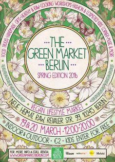 """Der vegane Lifestyle Markt: The Green Market Berlin - Spring Edition 2016 - Genießen mit gutem Gewissen. Das und mehr könnt Ihr an diesem Wochenende auf Berlins veganem Lifestyle Markt """"The Green Market Berlin"""". Ganz gleich aus welchem Grund Ihr veganes Leben bevorzugt - am  http://www.xn--verfhrer-95a.berlin/the-green-market-berlin/"""