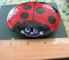 Lady Bug Pet Rock