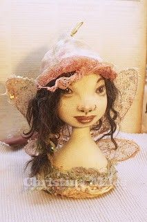 I really like the soft feeling in the hat, wings and torso. Her hair looks real, and the face is so cute.  Aj Saika Doll made from taking the class on Doll Street..