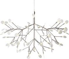 Product Details:The Heracleum II Pendant light has been designed by Bertjan Pot and made by Moooi. This light just like the plant that inspired it, is expanding, transforming and growing new leaves. The Heracleum leaves are not stuck in on place . Rectangular Chandelier, White Chandelier, Led Chandelier, Large Pendant Lighting, Led Pendant Lights, Pendant Lamp, Design Studio, Deco Design, Lustre Design