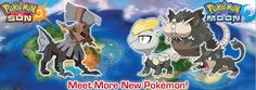 Meet more new Pokemon in  Pokémon Sun & Moon exclusive to the Nintendo 2DS and 3DS family.