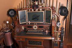 Steampunk computer set up