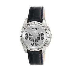 Reloj Drive Crono plateado de piel negra - Tous