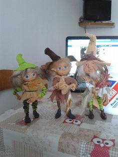 tre amici eseguiti in porcellana fredda