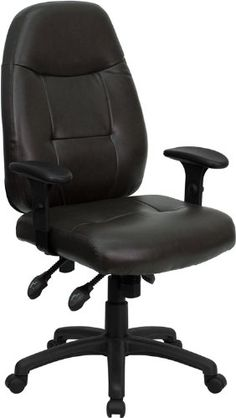Flash Furniture BT-2350-BRN-GG High Back Espresso Brown Leather Executive Office Chair |