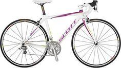 The carbon Scott Contessa - with pink = love! Scott Contessa, Raleigh Bicycle, Road Bikes, Blue Satin, Pink Love, Capri, Dirt Track, Mtb, Mountain Biking