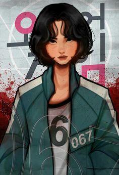 Squad Game, Japon Illustration, Cartoon Art Styles, Korean Drama, Cute Art, Anime Characters, Fictional Characters, Character Art, Anime Art