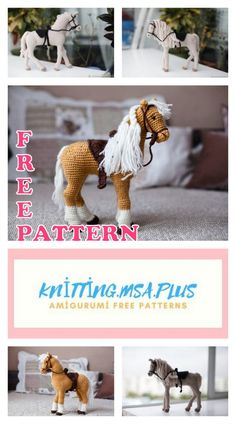 We share the latest free patterns with Amigurumi with you. In this article, amigurumi horse free crochet pattern is waiting for you. Crochet Horse, Knit Or Crochet, Crochet Animals, Single Crochet, Free Crochet, Easter Crochet, Crochet Crafts, Easy Knitting Projects, Easy Knitting Patterns