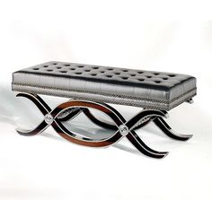 MIRROR POLISHED METAL BENCH ART515- metallic benches, according to the decorista, are the next Morrocan pouf.