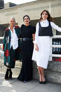 british-vogue:  Lucinda Chambers, Amanda Harlech and Alexa Chung at the Vogue Festival See the Vogue Festival photo album here