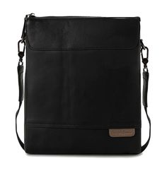 City Bags by Lombardi Giovanni. made from leather, this black color sling bag, with zipper and adjustable strap, Lombardi Giovanni logo in front, 2 compartment, you can carry it since it has an adjustable strap.  http://zocko.it/LDEvV