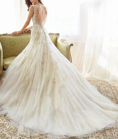 The Princess perfect wedding bride wedding dress/Full dress