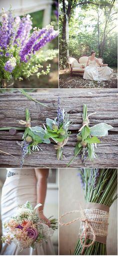 Beautiful flowers w/ burlap
