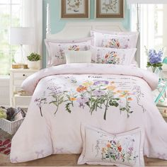 Cheap sheet set thread count, Buy Quality sheet of glass price directly from China sheet Suppliers: Twin/Queen/King Cotton Bohemian Boho Style Flower Print Duvet Cover Set/bed Linens/bed Sheet Sets/bedding Sets Jogo de cama Pink Bedding Set, Dorm Bedding Sets, Best Bedding Sets, Luxury Bedding Sets, Comforter Sets, King Comforter, Green Comforter, Linen Bed Sheets, Bed Linen Sets