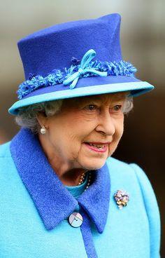 Queen Elizabeth, October 18, 2014 in Angela Kelly | Royal Hats